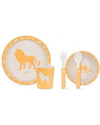 Jollein Dinner Set Safari, Oker - 100% Melamine! Meal Sets