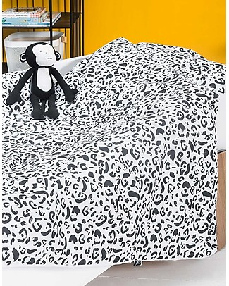 Jollein Duvet Cover and Pillowcase Set, Leopard - 140x200 cm - 100% cotton Duvet Sets