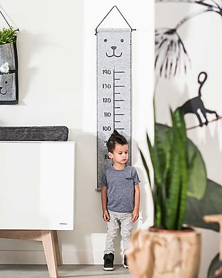 Jollein Felted Growth Chart, Bear - 70 to 140 cm! Room Decorations
