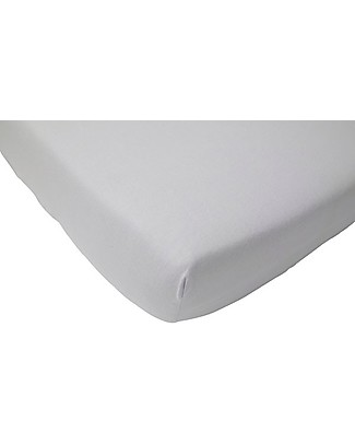 Jollein Fitted Sheet, Light Grey - 40x80 cm - Cotton Jersey Bed Sheets