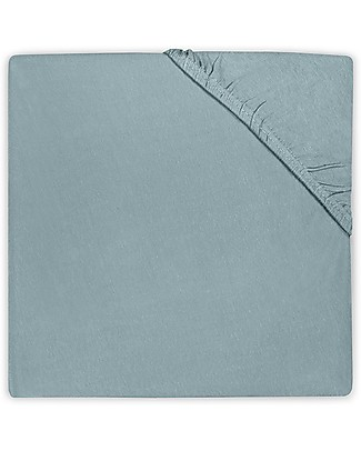 Jollein Fitted Sheet, Stone Green - 40x80 cm - Cotton Jersey Bed Sheets