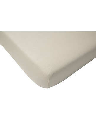 Jollein Fitted Sheet, White - 40x80 cm - Cotton Jersey Bed Sheets