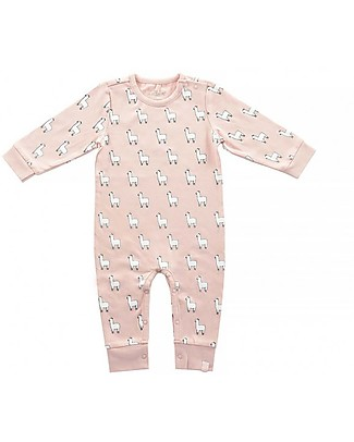 Jollein Footless Playsuit Lama, Blush Pink - Organic cotton Rompers