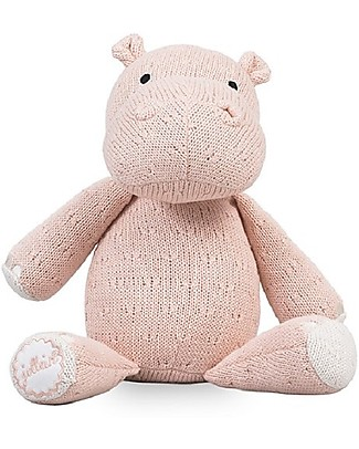 Jollein Knitted Soft Toy Hippo, Creamy Peach - Super soft and safe for newborns Soft Toys