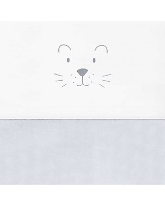 Jollein Little Lion Sheet, Soft Grey - 120x150 cm - 100% cotton Bed Sheets