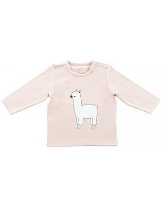 Jollein Long Sleeves Shirt Lama, Blush Pink - Organic Cotton Sweatshirts