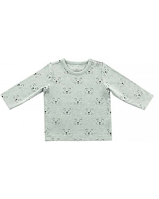 Jollein Long Sleeves Shirt Little Lion, Grey - Organic Cotton Long Sleeves Tops