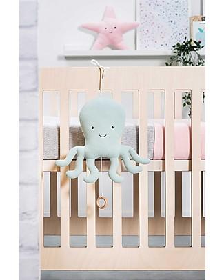 Jollein Musical Hanger Tiny Waffle , Soft Green Octopus Rattles