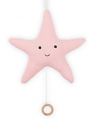 Jollein Musical Hanger Tiny Waffle , Soft Pink Starfish Rattles
