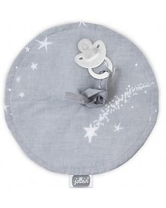 Jollein Pacifier Cloth, Diameter 20 cm - Galaxy Grey - 100% cotton Dummies & Soothers