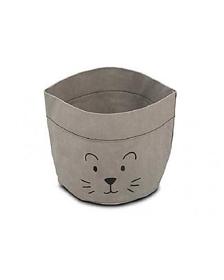Jollein Paper Basket Little Lion, Grey Toy Storage Boxes