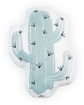 Jollein Pillow Light Blue Cactus - 100% Cotton Pillows
