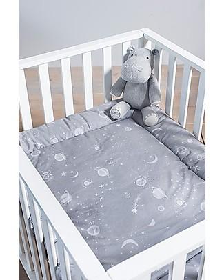 Jollein Playpen Quilt, Galaxy Grey - 80x100 cm - 100% cotton Blankets