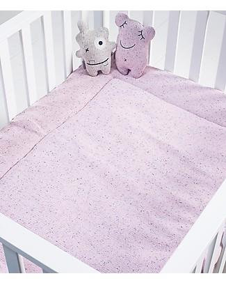 Jollein Playpen Quilt, Vintage Pink with Confetti Pattern - 80x100 cm - 100% cotton Blankets