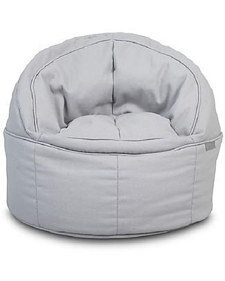 Jollein Round Sofa Beanbag Canvas, Grey - 50x43 cm null