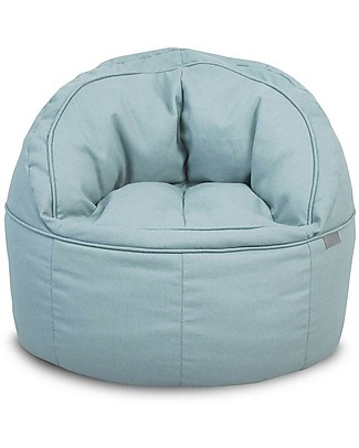 Jollein Round Sofa Beanbag Canvas, Vintage Green - 50x43 cm Chairs