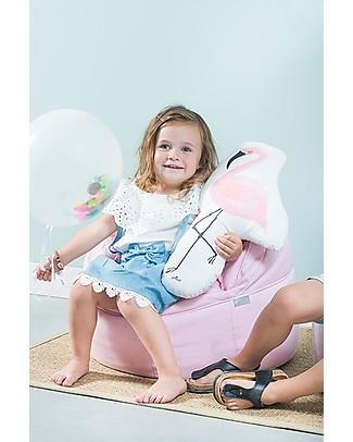 Jollein Round Sofa Beanbag Canvas, Vintage Pink - 50x43 cm Cushions