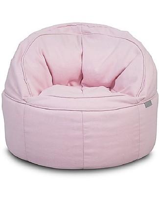 Jollein Round Sofa Beanbag Canvas, Vintage Pink - 50x43 cm null