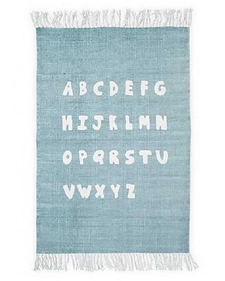 Jollein Rug ABC 90x130cm, Stone Green - 100% cotone Carpets