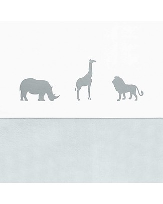 Jollein Safari Sheet, Stone Grey - 120x150 cm - 100% cotton Bed Sheets