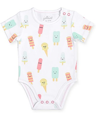Jollein Short Sleeves Body Happy Ice Cream - Organic cotton Short Sleeves Bodies
