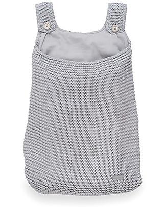 Jollein Storage Bag for Crib, Heavy knit  - Light Grey - 50x40 cm Toy Storage Boxes