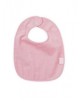 Jollein Waterproof Bib Velvet Terry, Blush Pink Waterproof Bibs