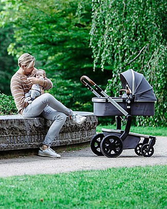 Joolz Day² Earth Travel System - Hippo Grey - Pram + Pushchair + BAG AND BUG CANOPY FOR FREE! Travel Systems