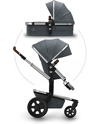 Joolz Day² Earth Travel System - Hippo Grey - Pram + Pushchair  Travel Systems