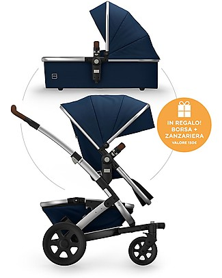 Joolz Day² Earth Travel System - Parrot Blue - Pram + Pushchair + BAG AND BUG CANOPY FOR FREE! Travel Systems