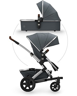Joolz  Geo² Earth  Travel System Pushchair and Pram - Hippo grey Double Pushchairs