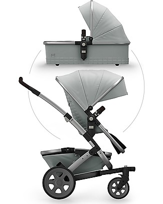 Joolz  Geo² Quadro Travel System Pushchair+Pram - Grigio Double Pushchairs