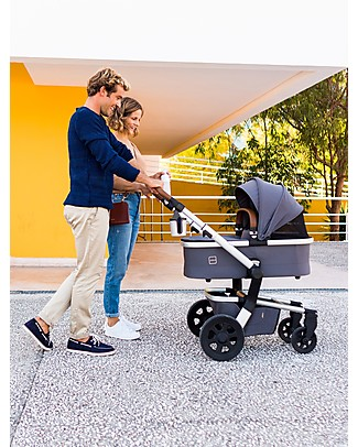 Joolz Hub Earth Pram, Hippo Grey - Ergonomic and Spacious! Pushchairs