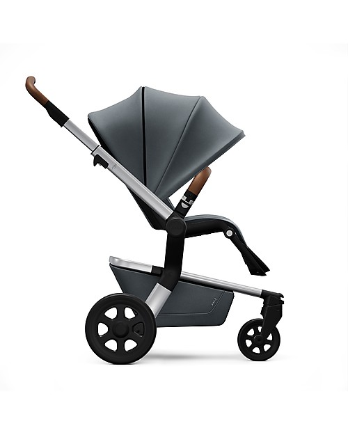 Joolz Hub Earth PushChair with Chassis + Seat, Hippo Grey - Handy and Compact! Lights Strollers