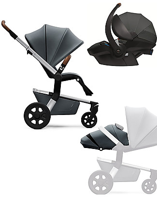 Joolz Hub Earth Trio: Stroller + Light Pram + Car Seat, Hippo Grey null