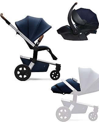 Joolz Hub Earth Trio: Stroller + Light Pram + Car Seat, Parrot Blue null