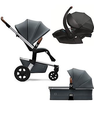 Joolz Hub Earth Trio: Stroller + Pram + Car Seat, Hippo Grey null