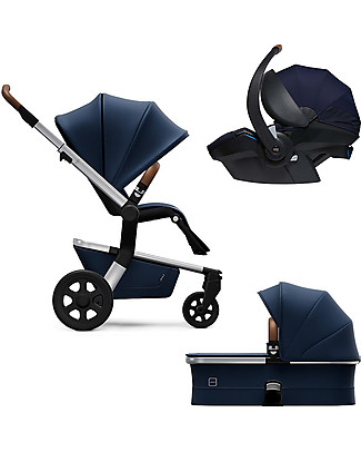 Joolz Hub Earth Trio: Stroller + Pram + Car Seat, Parrot Blue null