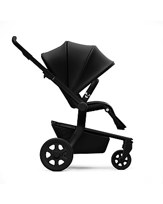 Joolz Hub Quadro PushChair with Chassis + Seat, Black - Handy and Compact! Lights Strollers