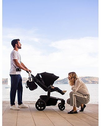 Joolz Hub Quadro PushChair with Chassis + Seat, Black - Handy and Compact! Pushchairs