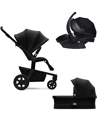 Joolz Hub Quadro Trio: Stroller + Pram + Car Seat, Black null