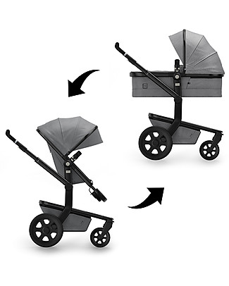 Joolz Joolz Day³ Studio, Graphite Grey - Pram + Pushchair Travel Systems