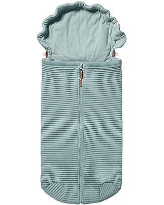 Joolz Ribbed Sleeping Bag, Mint, 100% Organic Cotton - 0/6 months Light Sleeping Bags