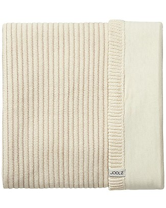 Joolz Ribbed Sleeping Bag, Off-white, 100% Organic Cotton - 0/6 months Light Sleeping Bags