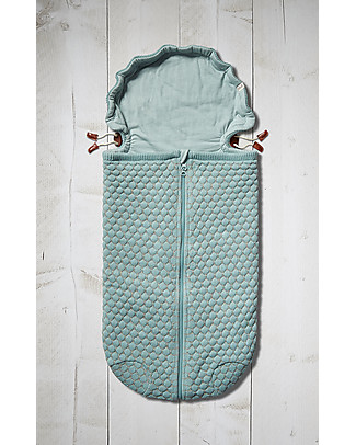Joolz Sleeping Bag Honeycomb Nest Mint, 100% Organic Cotton - 0/6 months Light Sleeping Bags