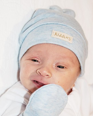 Juddlies Designs Baby Hat Breathe-Eze 0-4 Months, Pale Blue - 100% cotton, breathing and warm! Hats