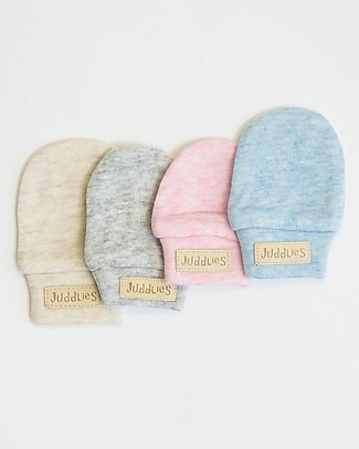 Juddlies Designs Baby Mittens Breathe-Eze 0-4 Months, Grey - 100% cotton, breathing and warm! Gloves e Mittens