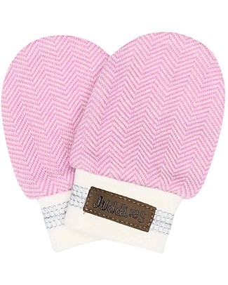 Juddlies Designs Baby Mittens Cottage Collection 0-3 Months, Sunset Pink - 100% Organic Cotton Gloves e Mittens