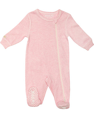 Juddlies Designs Breathe-Eze Babygrow with Non-Slip Feet, Pink - 100% cotton, breathing and warm Babygrows