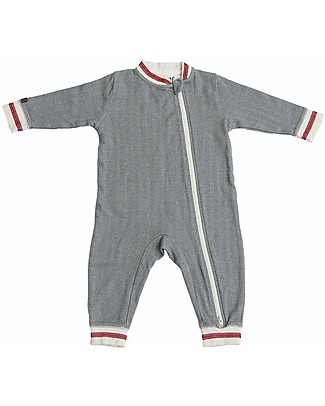 Juddlies Designs Cottage Playsuit, Driftwood - 100% Organic Cotton Babygrows